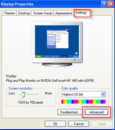 Monitor flickering problem – change refresh rate   Computers