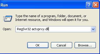 regsvr32 actxprxy.dll